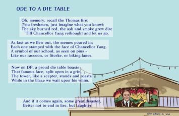 ode to a die table